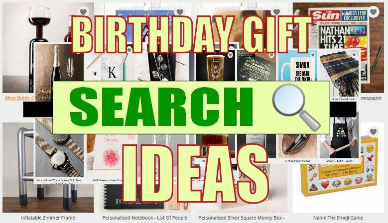 Search for Birthday Gift Ideas